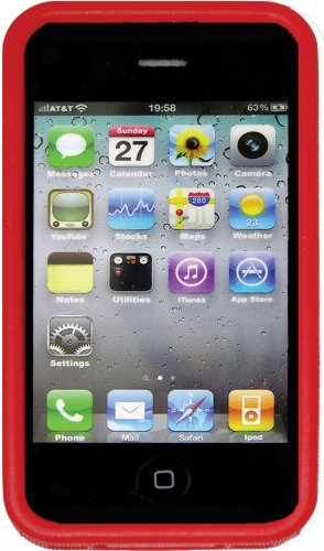 Nite Ize Bio Ip4 10 Bio Case For Iphone 4 4S   1 Pack   Retail Packaging   Red
