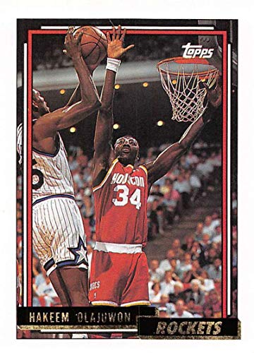 1992-93 Topps Gold Basketball #337 Hakeem Olajuwon Houston -