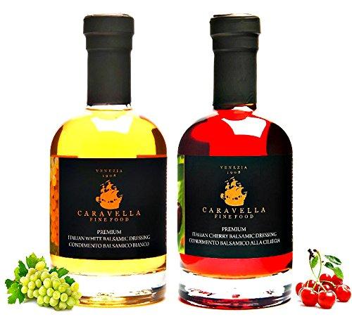 """Condimentos Gourmet italianos """" Balsámico Blanco - Cereza"""" : Caravella Premium Vinagre Balsámico Cereza"""