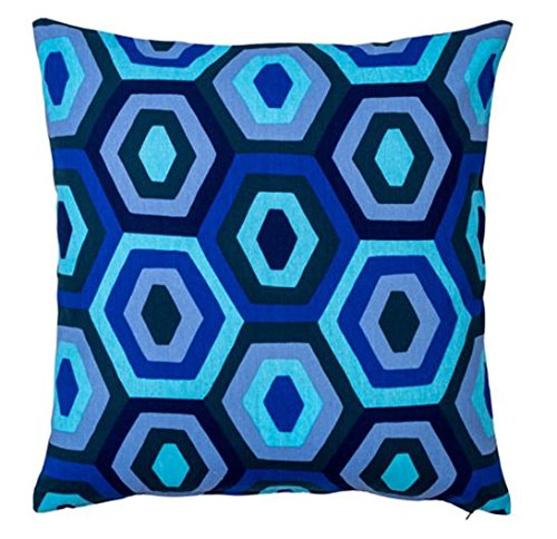 IKEA Jorid cojín manta funda de almohada azul 20 x 20 cm 100 ...