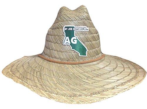 [My Job Depends on Ag Lifeguard Farmer Straw Hat (California)] (Straw Farmer Hats)
