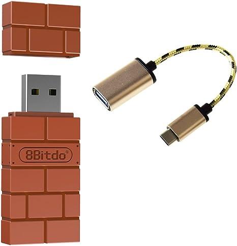 Mcbazel 8Bitdo Wireless Bluetooth Adapter para Nintendo Switch Windows Mac y Raspberry Pi: Amazon.es: Videojuegos