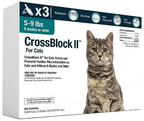 Amazon.com: crossblock II preventative de pulgas para gatos ...