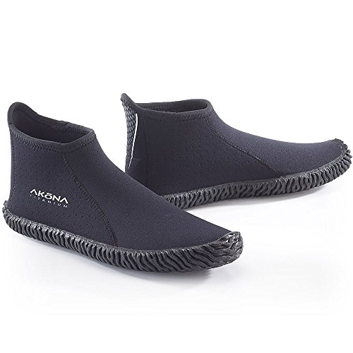 Akona 3.5mm Low Cut Boot, booties for Scuba Diving, kayaking, spearfishing, snorkeling, boat shoes, deck shoes, water shoes, 10