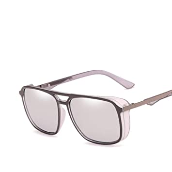 WZYMNTYJ Gafas de Sol Unisex cuadradas de la Vendimia Gafas ...
