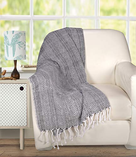 Bedroom Farmhouse Throws Blanket with Fringe for Chair,Couch,Picnic,Camping, Beach,Throws for Couch,Everyday Use, Cotton Throw… farmhouse blankets and throws