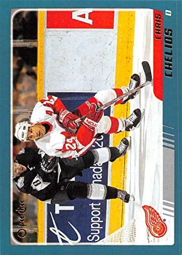 (2003-04 O-Pee-Chee Hockey Card #4 Chris Chelios Detroit Red Wings Official NHL Trading Card)
