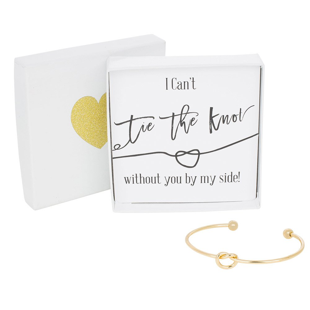 Amazon.com Bridesmaid Gifts - Tie The Knot Bracelet w/Gift Box Bridesmaid Proposal Gift Love Knot Jewelry Bridal Party Gift Sets (Gold Rose Gold ...  sc 1 st  Amazon.com & Amazon.com: Bridesmaid Gifts - Tie The Knot Bracelet w/Gift Box ...
