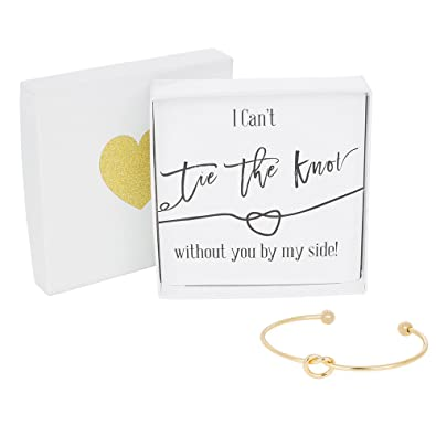 Bridesmaid Gifts Tie The Knot Bracelet W Gift Box Bridesmaid Proposal Gift Love Knot Jewelry Bridal Party Gift Sets Gold Rose Gold Silver