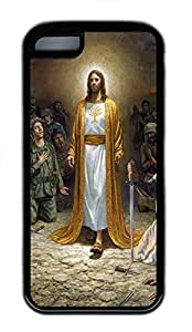 for iphone 4/4s Case Jesus In Robe TPU for iphone 4/4s Case Cover Black