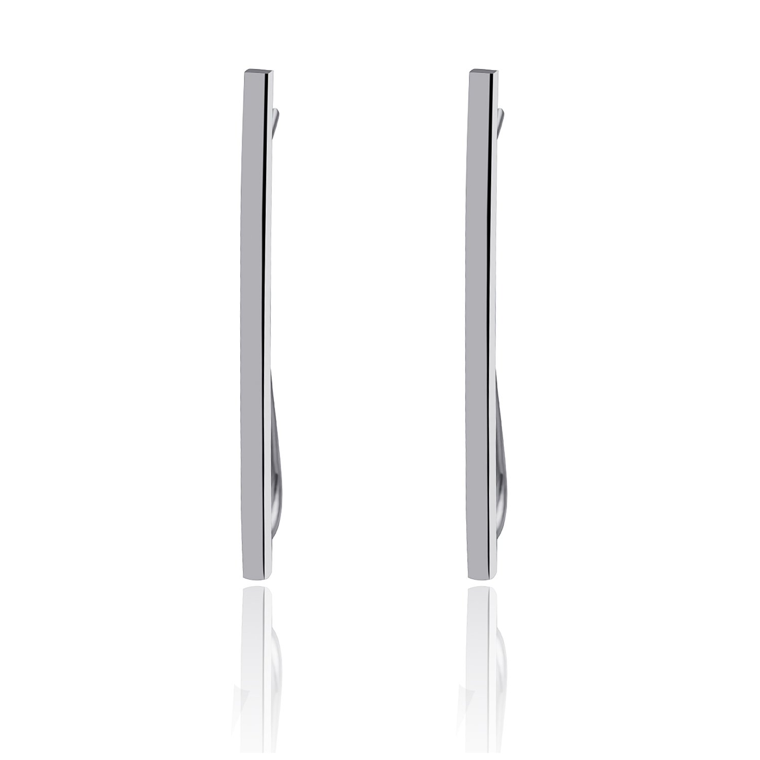 CIShop Minimalist ''Balance'' Bar Sterling Silver Dangle Drop Ear Climber Earrings