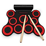 G3009 Table-top Electronic Drum Foldable Rubber-coated Water-resistant Pedals Sticks