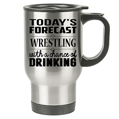 [WRESTLING Travel Mug - WRESTLING Gifts - Stainless Steel Travel Mug, Coffee Cup] (John Smith Costume Vest)