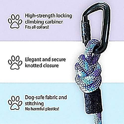 Kula Co. - Correa para Perro con mosquetón para Escalada de montaña, Resistente, 6 pies