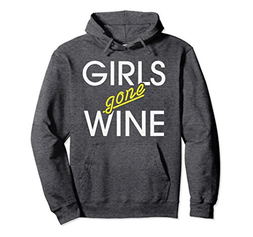 Unisex Girls Gone Wine Funny Alcohol Hoodie Small Dark Heather (Alcohol Sweatshirt)