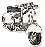 Vespa Lambretta Scooter MOD Logo Sign Biker Racing Patch Iron on Applique Embroidered T shirt Jacket BY SURAPAN