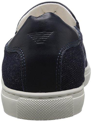 Armani Jeans resbalón en la zapatilla de deporte de la manera Denim