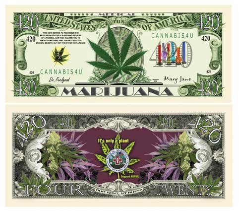 Set of 1000 - Medical Marijuana 420 Bill