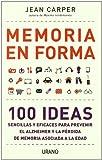 Memoria En Forma, Jean Carper, 8479537825