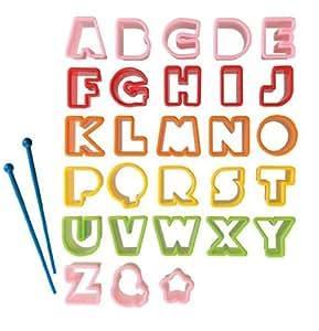 Alphabet ABC Bento food cutters