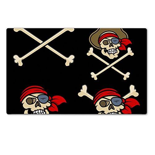 [Liili Premium Large Table Mat 28.4 x 17.7 x 0.2 inches captain pirates skull Vector Cartoon Illustration Photo] (Danger Mouse Halloween Costume)