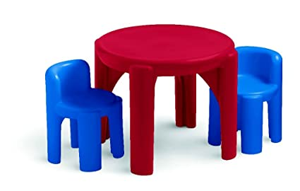 Magnificent Little Tikes Table Chairs Set Primary Colors Amazon Exclusive Dailytribune Chair Design For Home Dailytribuneorg