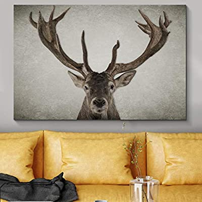 Fascinating Expertise, it is good, Wildlife Deer with Big Horn Painting Artwork for Framed