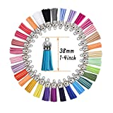 100PCS Keychain Tassels,Leather Tassel
