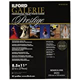 ILFORD 2001782 GALERIE Prestige Smooth Luster Duo - 8.5 x 11 Inches, 25 Sheets