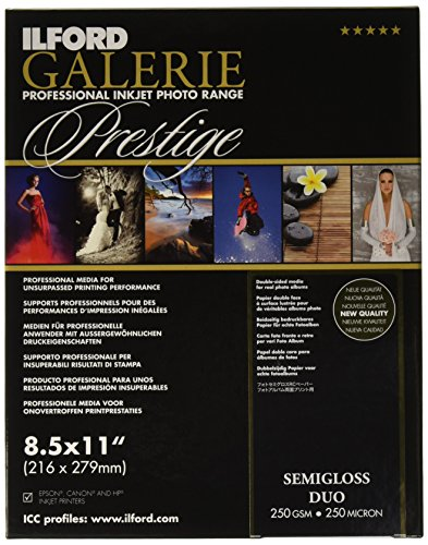 (ILFORD 2001782 GALERIE Prestige Smooth Luster Duo - 8.5 x 11 Inches, 25 Sheets)