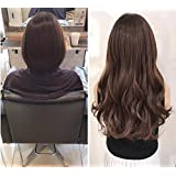 3/4 Full Head Clip in Hair Extensions Ombre One Piece 2 Tones Wavy Curly DL