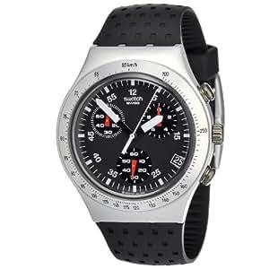 Swatch Men's YCS4024 Quartz Aluminum Black Dial Chronograph Watch