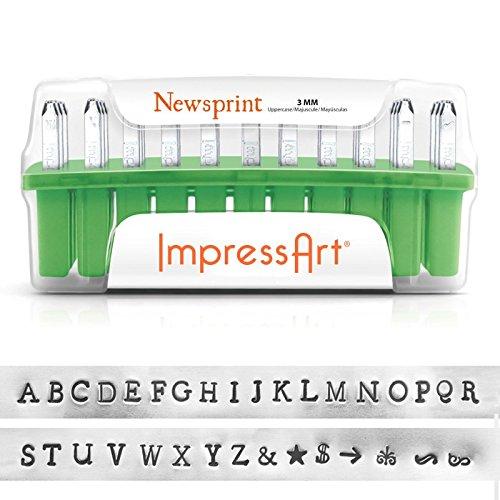 ImpressArt 33-Piece Deluxe Uppercase Alphabet Stamps 'New...