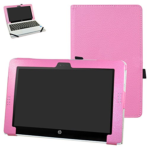 "HP Pavilion x2 10 / HP x2 210 G1 Case,Mama Mouth PU Leather Folio Stand Cover for 10.1"" HP Pavilion X2 10-n113dx n114dx n123dx n124dx n013dx / HP x2 210 G1 Detachable 2-in-1 Laptop/Tablet,Pink -  Bigmouthstore, 6430539"