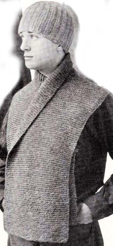 Wwi Trench Cap Hat Beanie Muffler Scarf Knitting Pattern Kindle