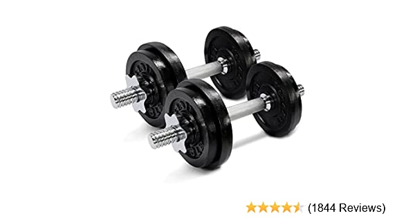 Amazon.com : Yes4All Adjustable Dumbbells, 40.00 Pounds : Sports & Outdoors