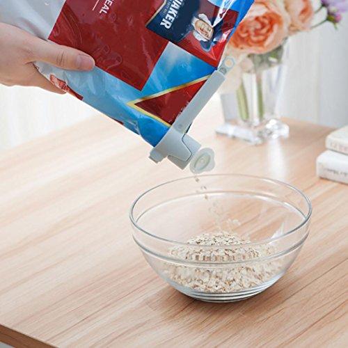 DDLBiz 5PCS Large Food bag Storage Clips Freezer & Fridge Bag Sealing Clip (Freezers Fridge Cream)