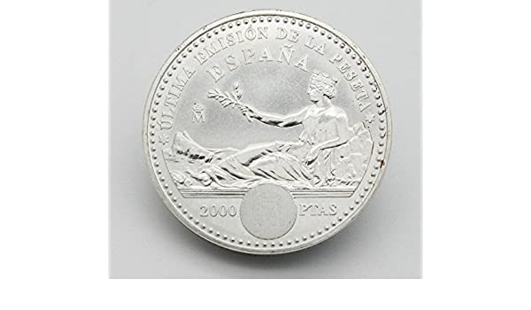 Moneda Conmemorando el 132 Aniversario de la Peseta. Moneda de Plata de 2000 Pesetas del año 2001. Moneda Coleccionable.: Amazon.es: Juguetes y juegos