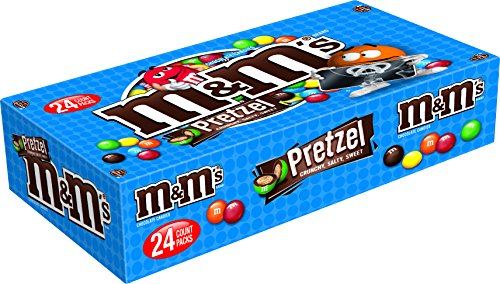 M&M'S Pretzel Chocolate Candy Singles Size 1.14-Ounce Pouch 24-Count ()