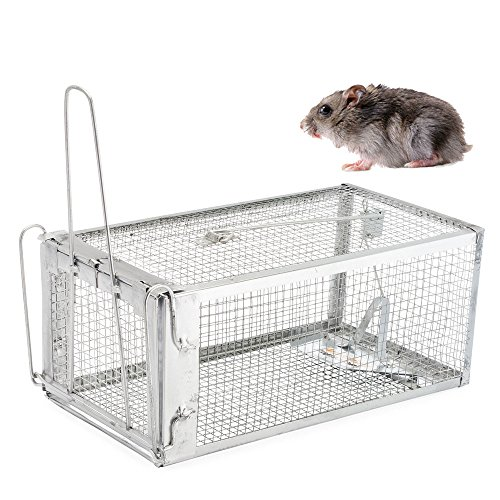 The Amazing Rat Trap - Humane Live Cage Catches Rats, Mice, Hamsters, Moles, Weasels, Gophers, and Other Small Rodents - Racoon Cage Trap