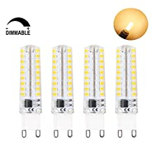 Lamsky 4-Pack Dimmable G9 5-Watt led bulb Warm White 3000K 72pcs Epistar SMD 2835 perfect replacement for 40W G9 halogen bulb