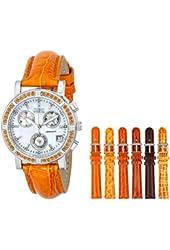 Invicta Women's 10313 Wildflower Analog Display Swiss Quartz Orange Watch