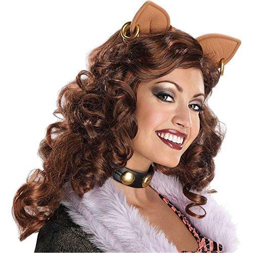 Clawdeen Wolf Halloween Costumes With Wig - Clawdeen Wolf Wig Costume