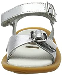 Umi Girl\'s Celia Sandal 33431 (24 B EU / 8 B US Toddler, Silver Leather)