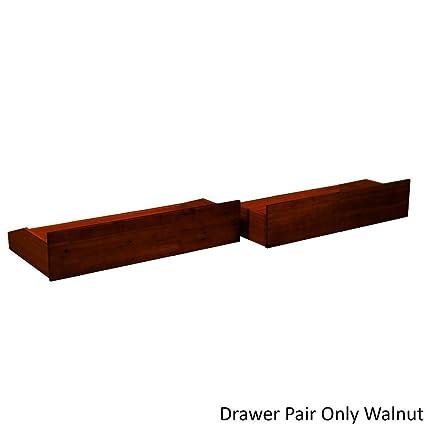Amazon.com: Pine Canopy White River Armless Steel Futon Frame Walnut ...