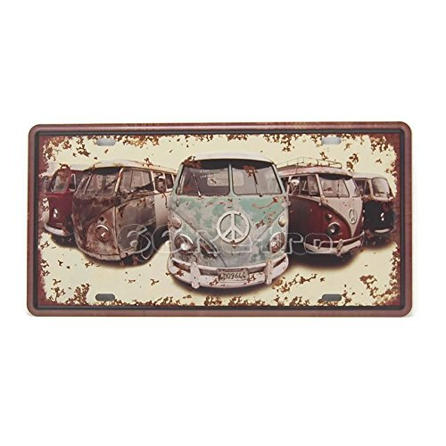 The Volkswagen Busses, Embossed Vintage Tin Sign, Wall