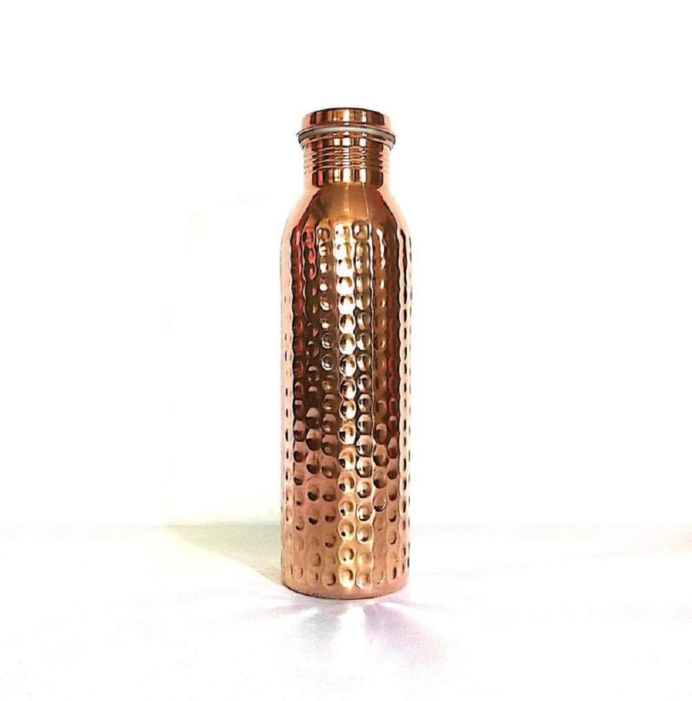 100/% Pure Copper Hammered Bottle for Yoga /& Ayurveda Health Benefits Leak Proof