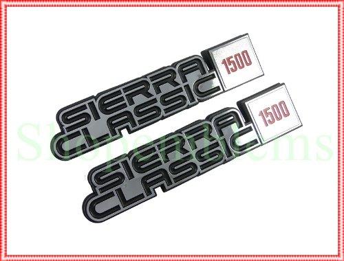 1981 1982 1983 1984 1985 1986 1987 GMC Truck Sierra Classic 1500 C/K Fender Emblems Suburban Nameplate 2pc