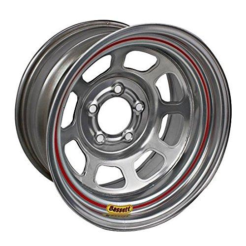 Bassett Wheels 57RN4S Silver DOT D-Hole - 5 Dot Wheels