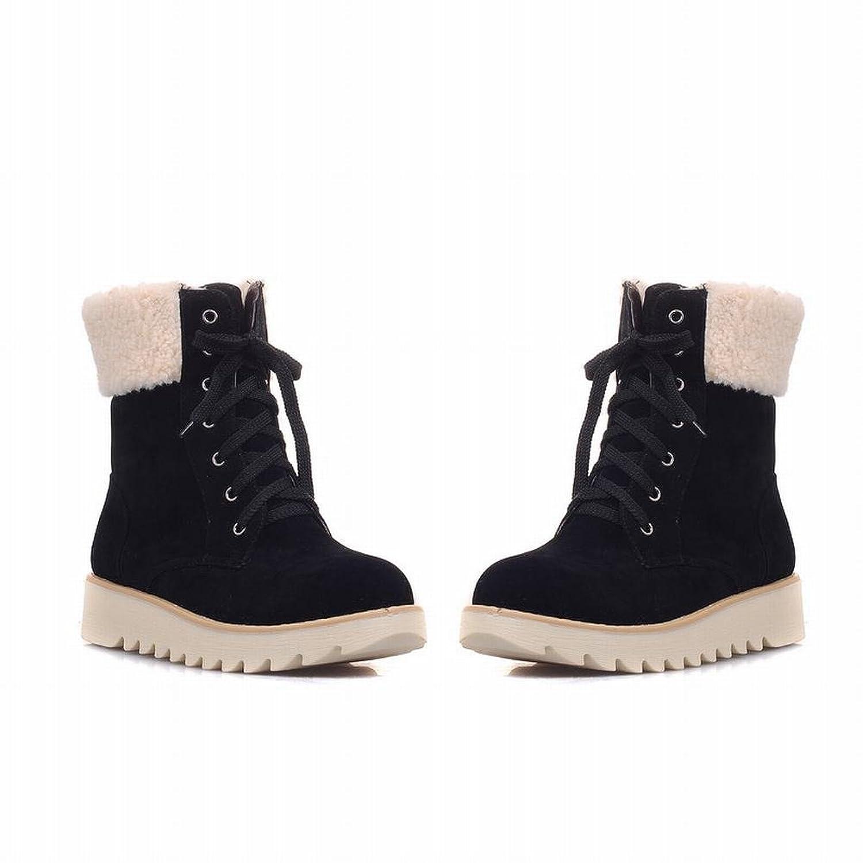 Show Shine Women's Fashion Platform Boots Ankle Boots Snow Boots